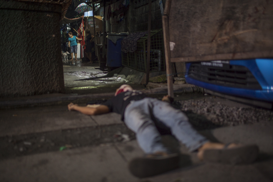 Dead on the streets have become a daily or nightly occurence and all are allegedly drug-related